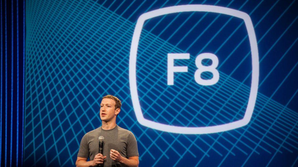 Mark Zuckerberg na koncerenci F8